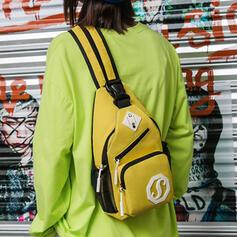 Solid Color/Simple/USB Sling Backpack