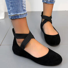 Women's PVC Flat Heel Flats Loafers Slip On Loafers & Slip-Ons With Animal Print Elastic Band Crisscross shoes