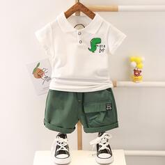 2-pieces Baby Boy Dinosaur Print Cotton Set