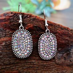 Shining Chic Alloy Rhinestones Women's Earrings 2 PCS