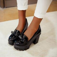 Frauen PU Stämmiger Absatz Absatzschuhe Round Toe mit Bowknot Schuhe