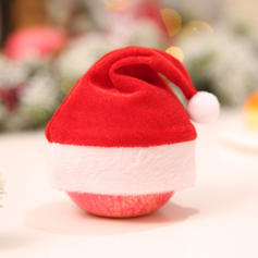 Weihnachten Fröhliche Weihnachten Leinen Weihnachtsmützen Apple Taschen