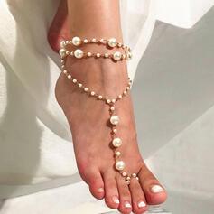 Anhänger Legierung mit Nachahmungen von Perlen Strandschmuck Fußkettchen