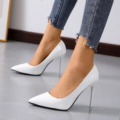 Women's Leatherette Stiletto Heel Pumps Heels With Solid Color shoes