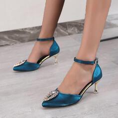 Frauen PU Stöckel Absatz Absatzschuhe mit Perlstickerei Schuhe