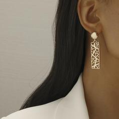 Exquisiten Stilvoll Legierung Frauen Ohrringe 2 STÜCK