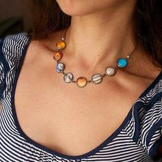 Bunte Boho Leuchtend Legierung Halsketten