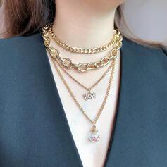 Modisch Kupfer Glas Schmuck Sets Halsketten (4 Stück)