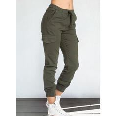 Solid Pockets Casual Vintage Lounge Pants
