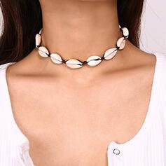 Hübsche Schale Flechtschnur Halsketten Strandschmuck