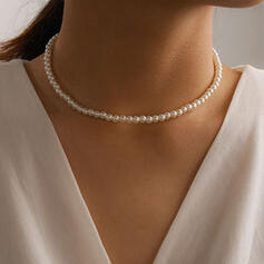 Simple Alloy Imitation Pearls Women's Necklaces
