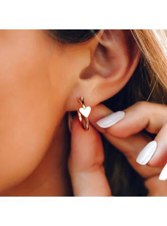 Hottest Heart Alloy Women's Earrings 2 PCS