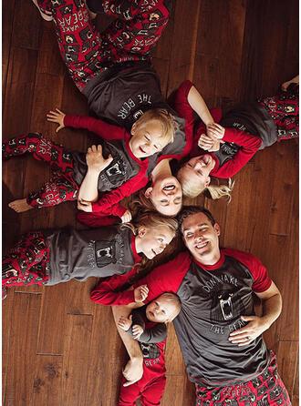 Farbblock Bär Schreiben Passende Familie Pyjama