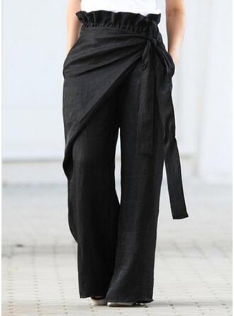 Geometrisch Übergröße Bowknot Lange Lässige Kleidung Elegant Hosen