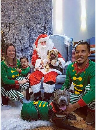 Farbblock Karikatur Drucken Passende Familie Christmas Pajamas