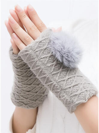 Solid Color/Crochet Comfortable/Non Slip Gloves