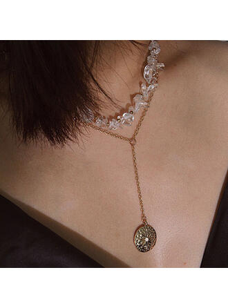 Sexy Charming Artistic With Birthstone Coin Décor Women's Ladies' Necklaces 1 PC