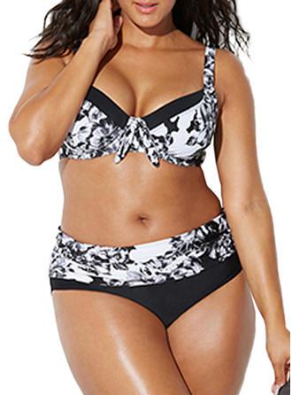 Colorful Underwire Push Up Strap Elegant Plus Size Bikinis Swimsuits