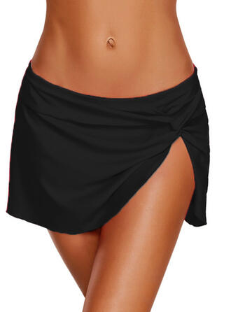 Solid Color Bottom Strapless Elegant Bottoms Swimsuits