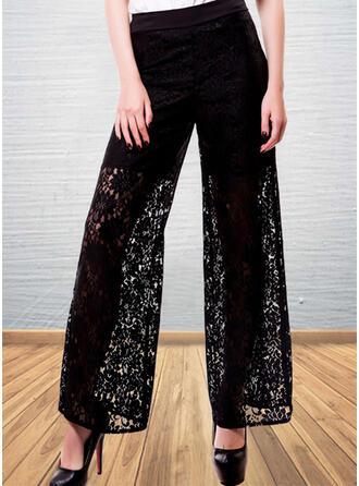Lace Plus Size Casual Lace Lounge Pants