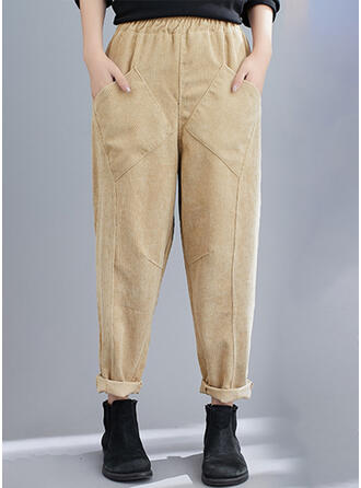 Einfarbig Geometrisch Lässige Kleidung Jahrgang Lounge Pants