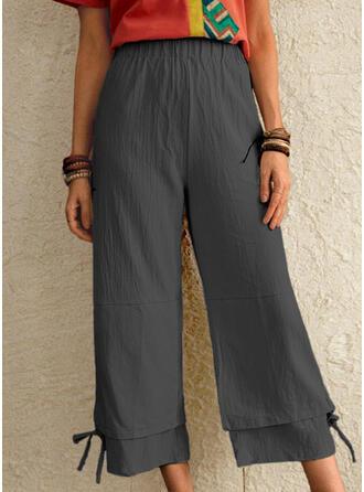 Plus Size Drawstring Casual Long Lounge Pants