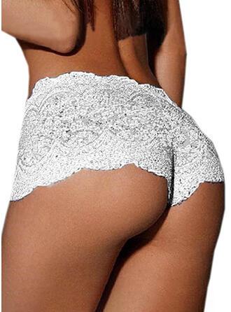 Lace Chinlon Sexy Alluring Shorts