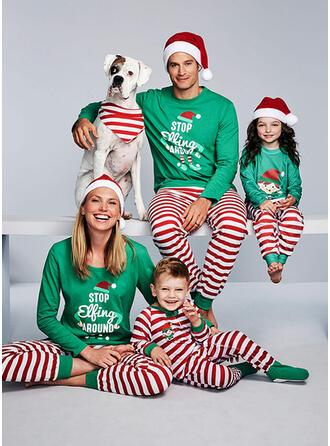 Schreiben Gestreift Passende Familie Christmas Pajamas