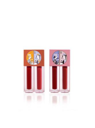 2 PCS Matte Classic Velvet Lip Gloss Lip Sets With Box