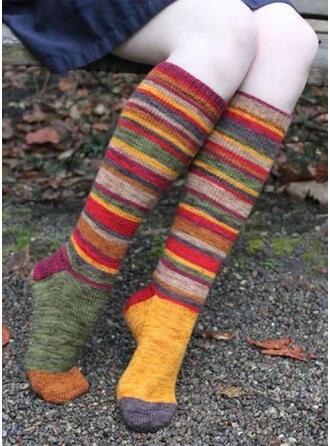 Gestreift/Geometrische drucken/Bunt Komfortabel/Weihnachten/Calf Socks Socken/Strümpfe Socken