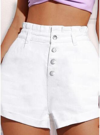 Shirred Elegant Denim Denim & Jeans