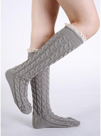 Gestreift/Einfarbig Komfortabel/Calf Socks Socken