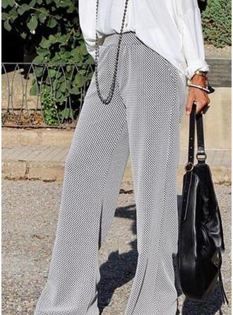 Shirred Übergröße Lange Lässige Kleidung Elegant Hosen