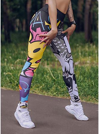 Druck Lange Lässige Kleidung Sportlich Yoga Gamaschen