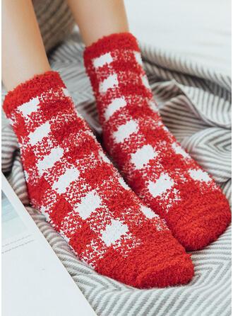 karierte Komfortabel/Weihnachten/Crew Socks Socken