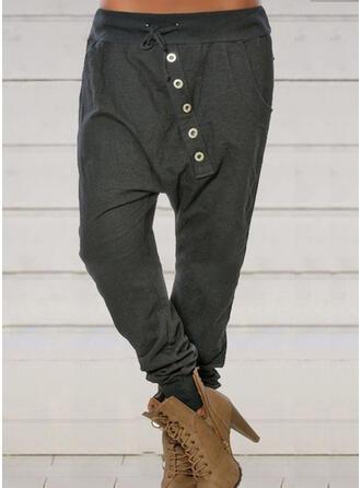 Geometrisch Übergröße Kordelzug Lange Lässige Kleidung Sportlich Hosen