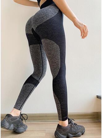 Color Block Yoga Stretchy Leggings