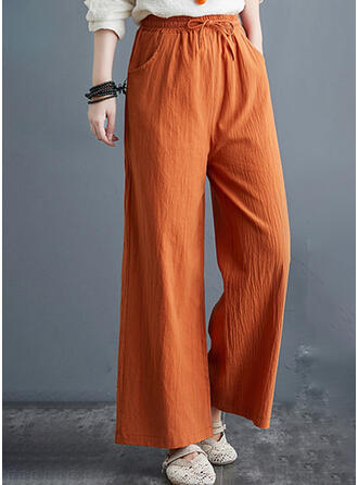 Einfarbig Übergröße Kordelzug Lässige Kleidung Elegant Einfach Lounge Pants