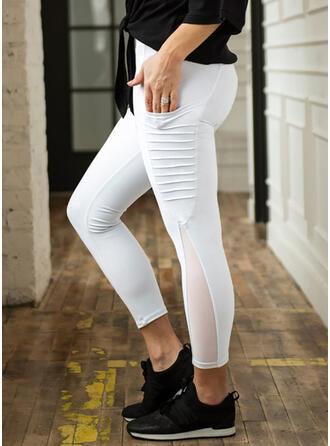 Patchwork Pockets Yoga Stretchy Leggings