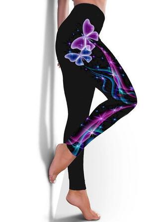 Druck Übergröße Lange Lässige Kleidung Sportlich Yoga Gamaschen