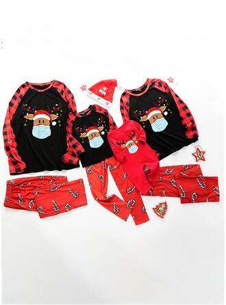 Rentier Hirsch Drucken Passende Familie Christmas Pajamas