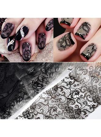 10 PCS Mesh Pattern Striped Nail Art Sticker