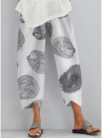 Print Plus Size Casual Print Lounge Pants