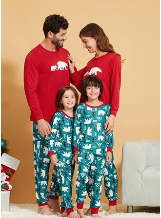 Bär Passende Familie Pyjama