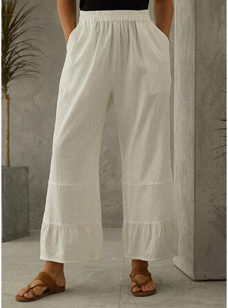 Einfarbig Geometrisch Übergröße Boho Lässige Kleidung Elegant Lounge Pants