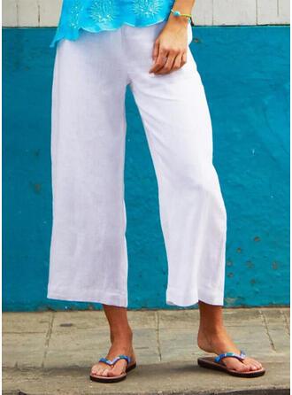 Shirred Übergröße Midi- Boho Lässige Kleidung Hosen