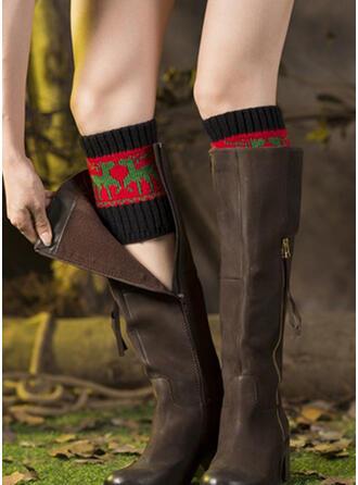 Weihnachten Rentier Komfortabel/Leg Warmers/Boot Cuff Socks Socken