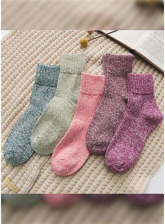 Einfarbig Warmen/Atmungsaktiv/Komfortabel/Crew Socks Socken (Satz von 5 Paaren)