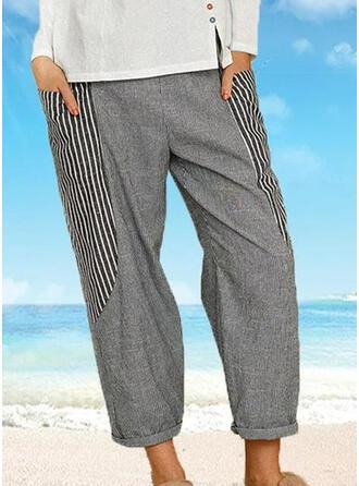 Striped Plus Size Casual Striped Lounge Pants