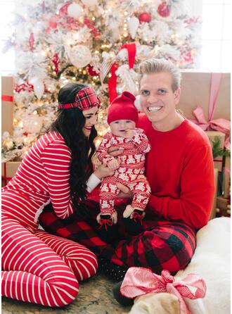 Bear Plaid Striped Family Matching Christmas Pajamas